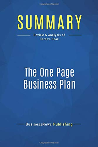 Livro Summary: The One Page Business Plan