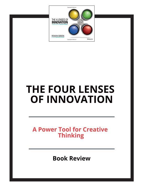 Livro The 4 Lenses of Innovation